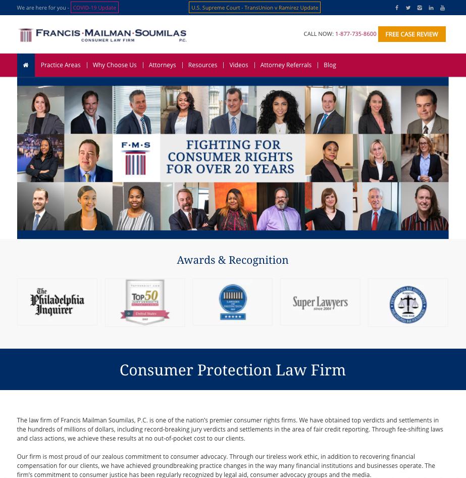 Digital Marketing Case Study: Law Firm Website Image